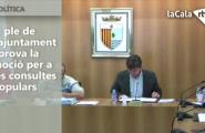 El ple de l'ajuntament aprova la moció per a les consultes populars