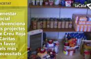 Benestar Social subvenciona els projectes de Creu Roja i Cáritas en favor dels més necessitats