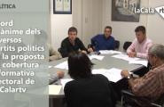 Acord unànime dels diversos partits polítics en la proposta de cobertura informativa electoral de la Calartv