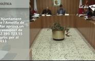 L'Ajuntament de l'Ametlla de Mar aprova un pressupost de 22.393.723,55 euros per al 2013
