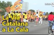 Els trams de la Via Catalana a la Cala superen les expectatives d'ocupació