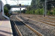 Avaria d'un tren a l'estació
