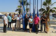 Hissada de les Banderes Blaves a les platges de l'Ametlla de Mar