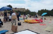 La platja de Sant Jordi és escenari del rodatge d'un espot publicitari per a l'Agència Catalana de Turisme