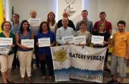 Ecologistes en Acció lliura a l'Ametlla de Mar set guardons Platges Verges per segon any consecutiu