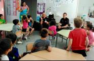 Les nenes i nens de P5 de l'Escola coneixen de prop la Policia Local i el SUM