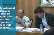 L'Ajuntament aprova la moció de suport a les consultes populars per la independència