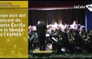 Gran èxit del concert de Santa Cecília de la banda de l'EMMA