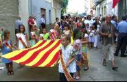 L'Ametlla de Mar ret homenatge als alcaldes del període democràtic durant la diada