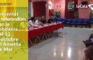 Presentat el referèndum per la sobirania del 12 d'octubre a l'Ametlla de Mar