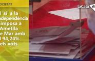 El 'sí' a la independència s'imposa a l'Ametlla de Mar amb el 94,24% dels vots