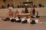 La secció de gimnàstica rítmica i el ball esportiu no podien faltar dins la programació d'aquesta setmana d'activitat nadalenca
