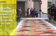 Les catifes de Corpus llueixen un any més pels carrers de la Cala