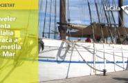 El veler Santa Eulàlia atraca a l'Ametlla de Mar
