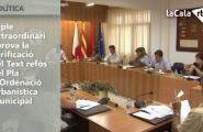El ple extraordinari aprova la verificació del Text refós del Pla d'Ordenació Urbanística Municipal