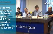 Els danys ocasionats pels forts aiguats del 17 de setembre pugen a 1.819.690 d'euros