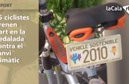 25 ciclistes prenen part en la pedalada contra el canvi climàtic