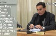 Joan Pere Gómez i Comes nomenat Responsable de l'Oficina del Delegat del Govern de les Terres de l'Ebre