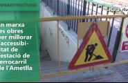 En marxa les obres per millorar l'accessibilitat de l'estació de ferrocarril de l'Ametlla