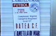 Partit d'ascens a 1ª regional - Temporada 86/87