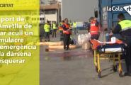 El port de l'Ametlla de Mar acull un simulacre d'emergència a la dàrsena pesquera