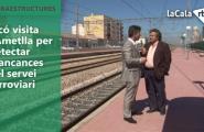 Ticó visita l'Ametlla per detectar mancances del servei ferroviari