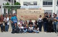 Protesta contra les retallades en educació a l'IES Mare de Déu de la Candelera