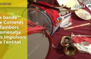 La banda de Cornetes i Tambors homenatja els impulsors de l'entitat