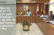 Reducció del 16'5% en els sous de l'equip de govern de l'Ajuntament de l'Ametlla de Mar