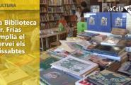 La Biblioteca Dr. Frías amplia el servei els dissabtes