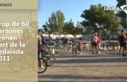 Prop de 60 persones prenen part de la Pedalada 2011 en el marc de la Setmana de la Mobilitat Sostenible i Segura