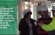 La Delegada territorial de Benestar Social visita la Residència per a la Gent Gran de l'Ametlla de Mar