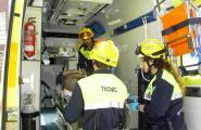 L'ambulància del SUM a disposició dels malalts crònics amb problemes de mobilitat de l'Ametlla de Mar