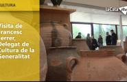 Visita de Francesc Ferrer, Delegat de Cultura de la Generalitat