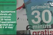 L'Ajuntament ofereix als comerços 720 hores d'aparcament gratuït per 60 euros al mes