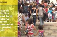 L'Escola Pública Sant Jordi estrena horari compactat el pròxim curs