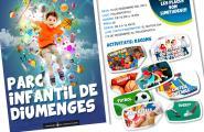 Parc infantil els diumenges d'hivern pels nenes i nenes