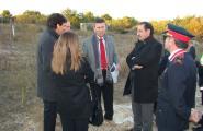 El Conseller d'Interior visita els terrenys de la futura Comissaria dels Mossos a l'Ametlla de Mar