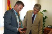 Francesc  Homs, Conseller de la Presidència, visita l'Ametlla de Mar