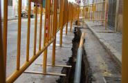 Aturada dels treballs en les obres per a la implantació de la xarxa de gas natural al municipi