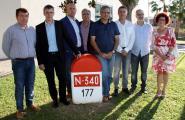 Els alcaldes d'Esquerra afectats per l'N-340 apel·len al subdelegat del govern espanyol per accelerar que Foment ofereixi una solució