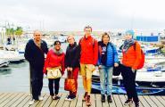 Periodistes de Rússia visiten l'Ametlla de Mar en un press trip per la Costa Daurada