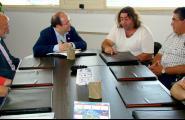 Miquel Iceta va visitar ahir l'Ametlla de Mar per mobilitzar el vot socialista i per interessar-se per la situació del sector pesquer