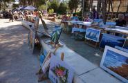 Les Dones Endavant mostren els treballs del taller de pintura en una exposició al CIP