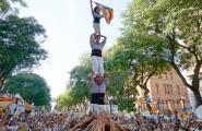 Centenars de caleros participen en la manifestació de l'11 de setembre fent bategar la Rambla Nova de Tarragona