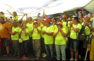 Més d'un centenar de caleres i caleros es mobilitzen a la Diada del Sí